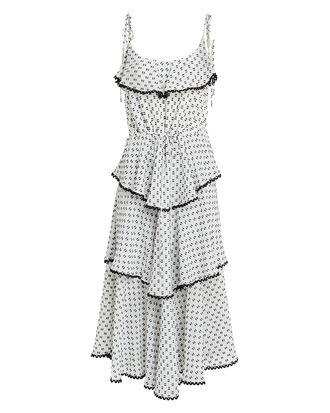 Polka Dot Midi Dress, MULTI, hi-res