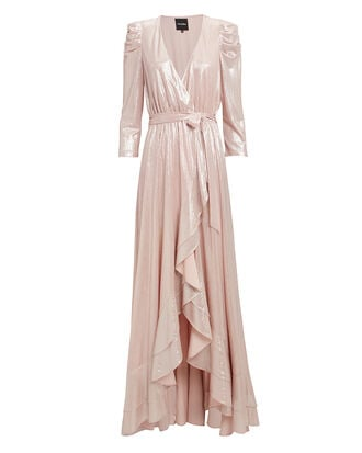 Flora Dress, ROSE METALLIC, hi-res