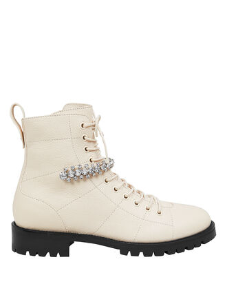 Cruz Crystal-Embellished Boots, IVORY, hi-res