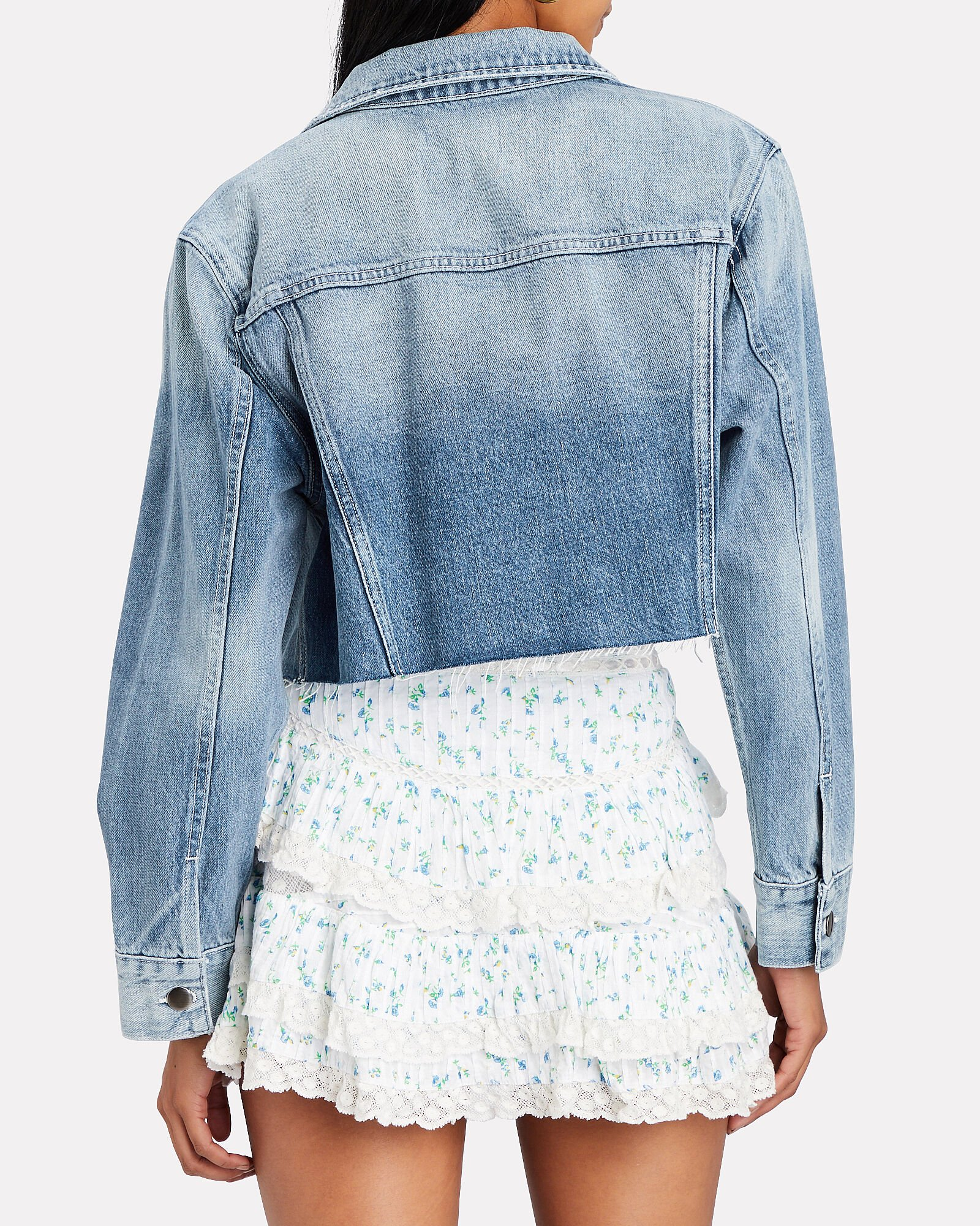 Ultra Crop Denim Jacket, , hi-res