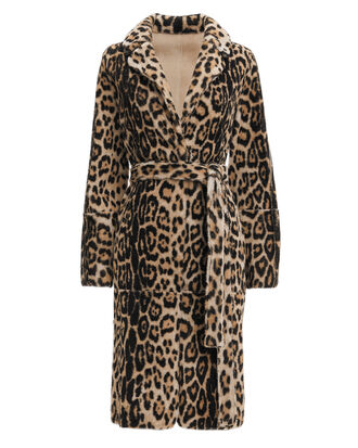 Leopard Reversible Robe Coat, LEOPARD, hi-res