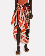 Choosing Destinations Printed Pareo Skirt, WHITE/RED, hi-res