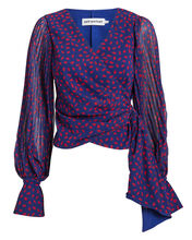Crepe Printed Wrap Top, MULTI, hi-res