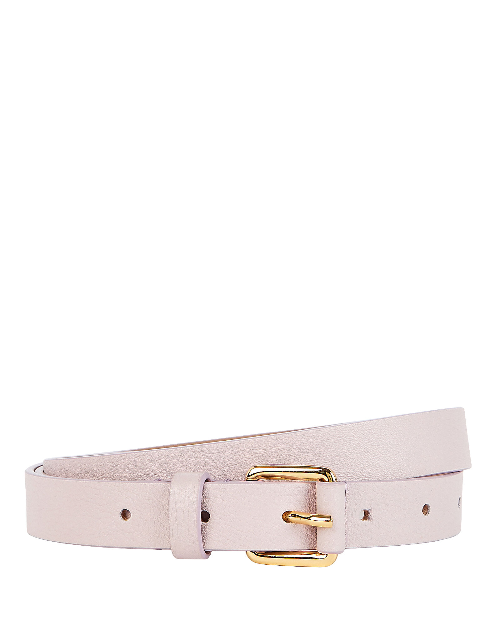 Ivy Thin Leather Waist Belt, LILAC, hi-res