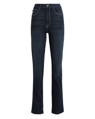 Rinse High-Rise Slim Jeans, DARK WASH DENIM, hi-res