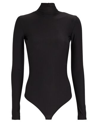 Libby Open Back Turtleneck Bodysuit, BLACK, hi-res