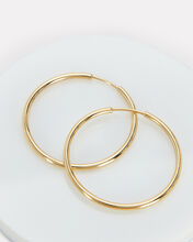 Mini Endless Hoops, GOLD, hi-res