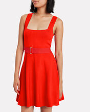 Poppy Ribbed Mini Dress, RED, hi-res