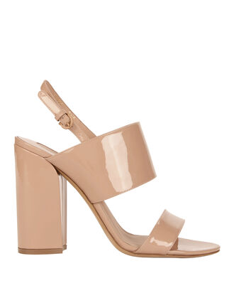 Wave Heel Double Strap Sandals, BLUSH/NUDE, hi-res