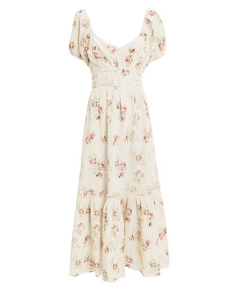 Angie Floral Maxi Dress, IVORY/ROSE PRINT, hi-res
