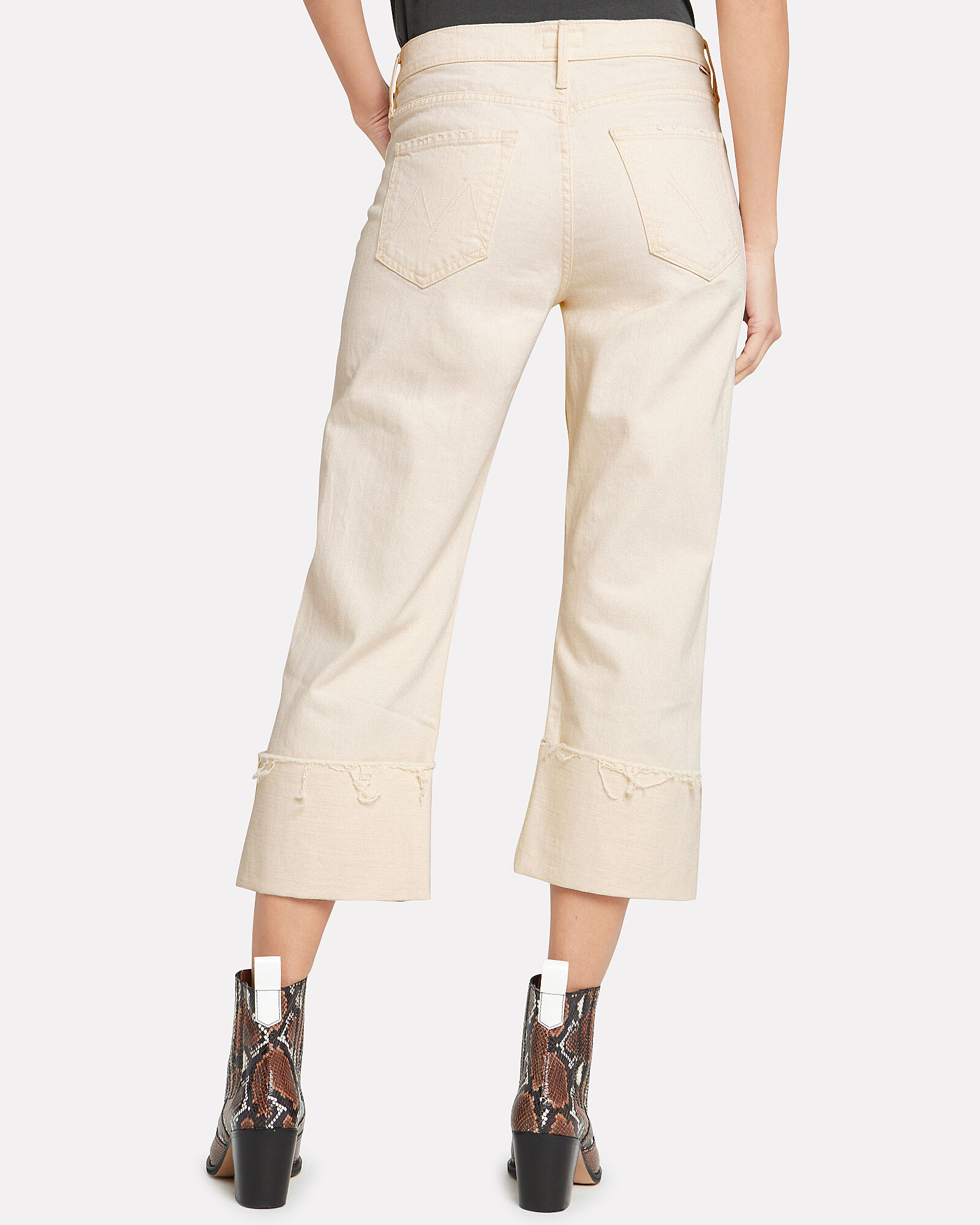 Act Natural Dusty Cuff Jeans, IVORY, hi-res