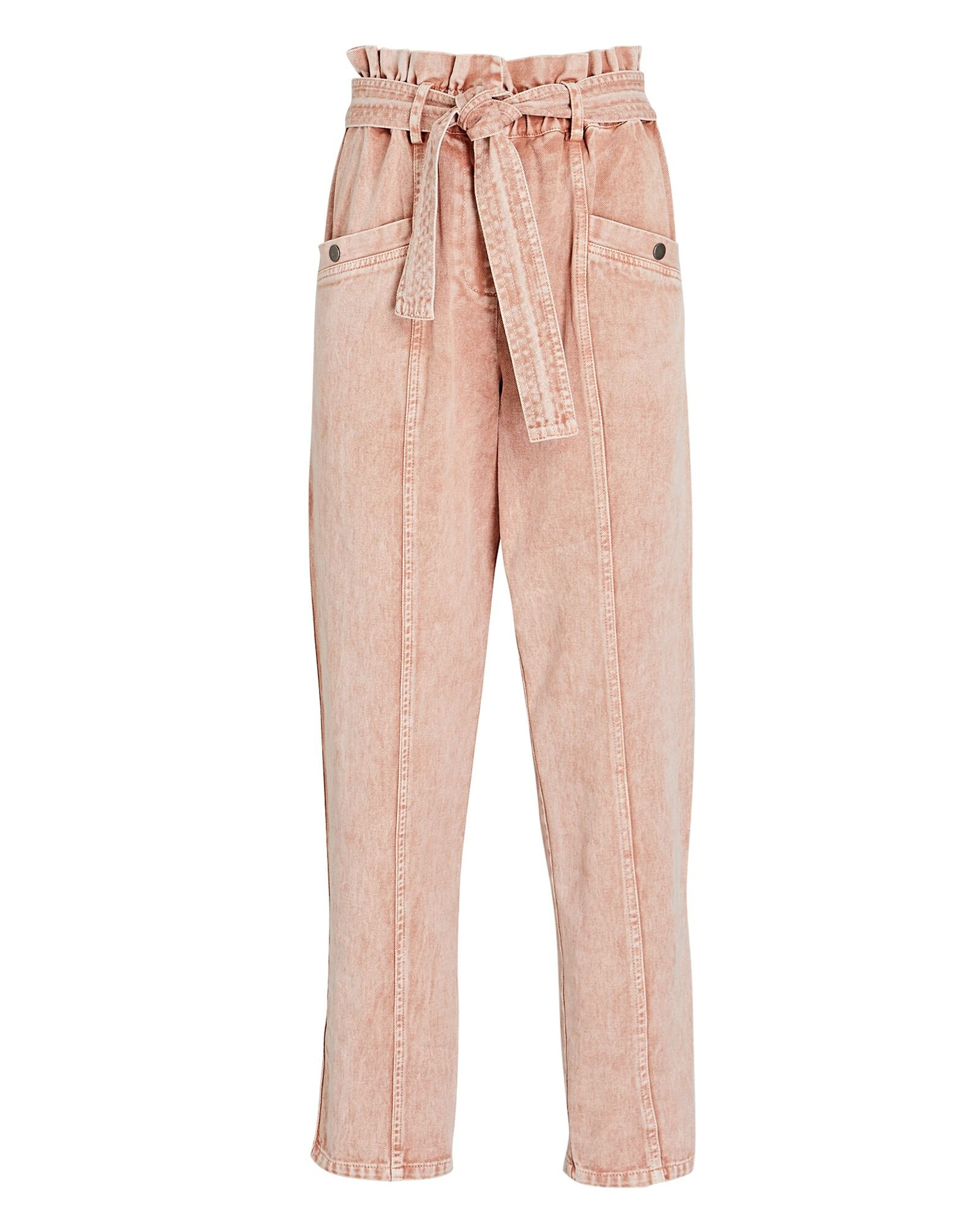 Betty Paperbag Jeans, PINK, hi-res