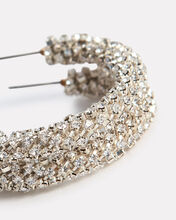 Beaded Silver Hoop Earrings, SILVER, hi-res