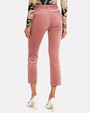Classic Velvet Cropped Trousers, PINK, hi-res