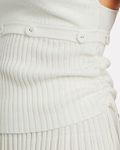 Button Seam Ribbed Tank Top, WHITE, hi-res