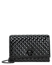 Quilted Patent Leather Skull Crossbody, BLACK, hi-res