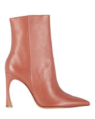Myra 100 Leather Ankle Boots, BROWN, hi-res