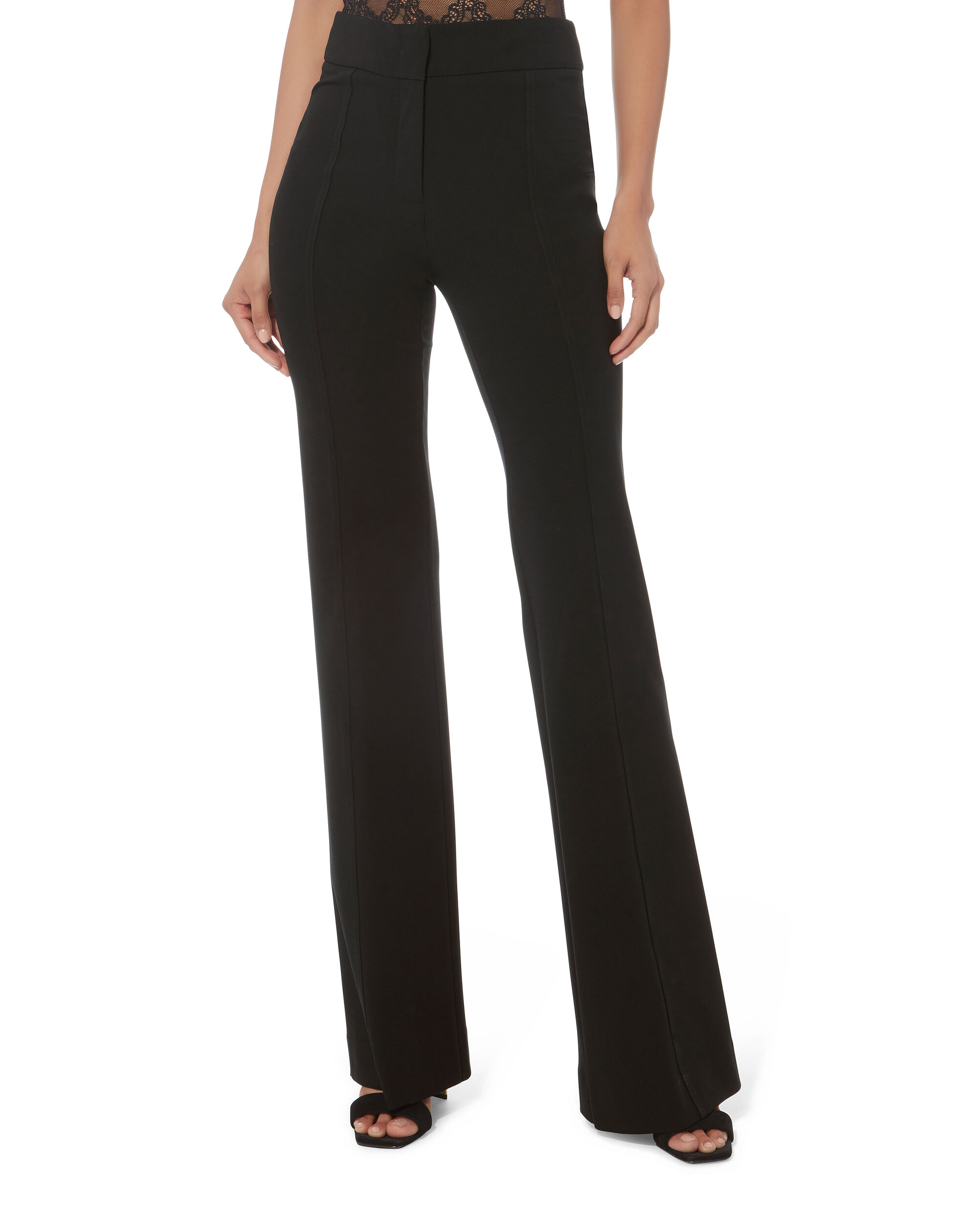 Georgina High Waist Trousers, BLACK, hi-res