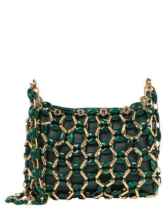 Capria Chain Leather Bag, EVERGREEN, hi-res
