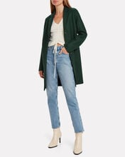 Pressed Wool Cocoon Coat, FOREST GREEN, hi-res