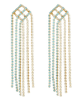 Oasis Fringe Earrings, BLUE-LT, hi-res