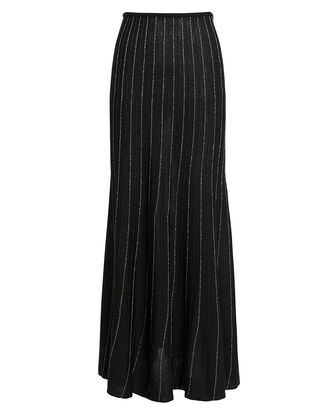 Lurex Striped Skirt, BLACK/STRIPE, hi-res
