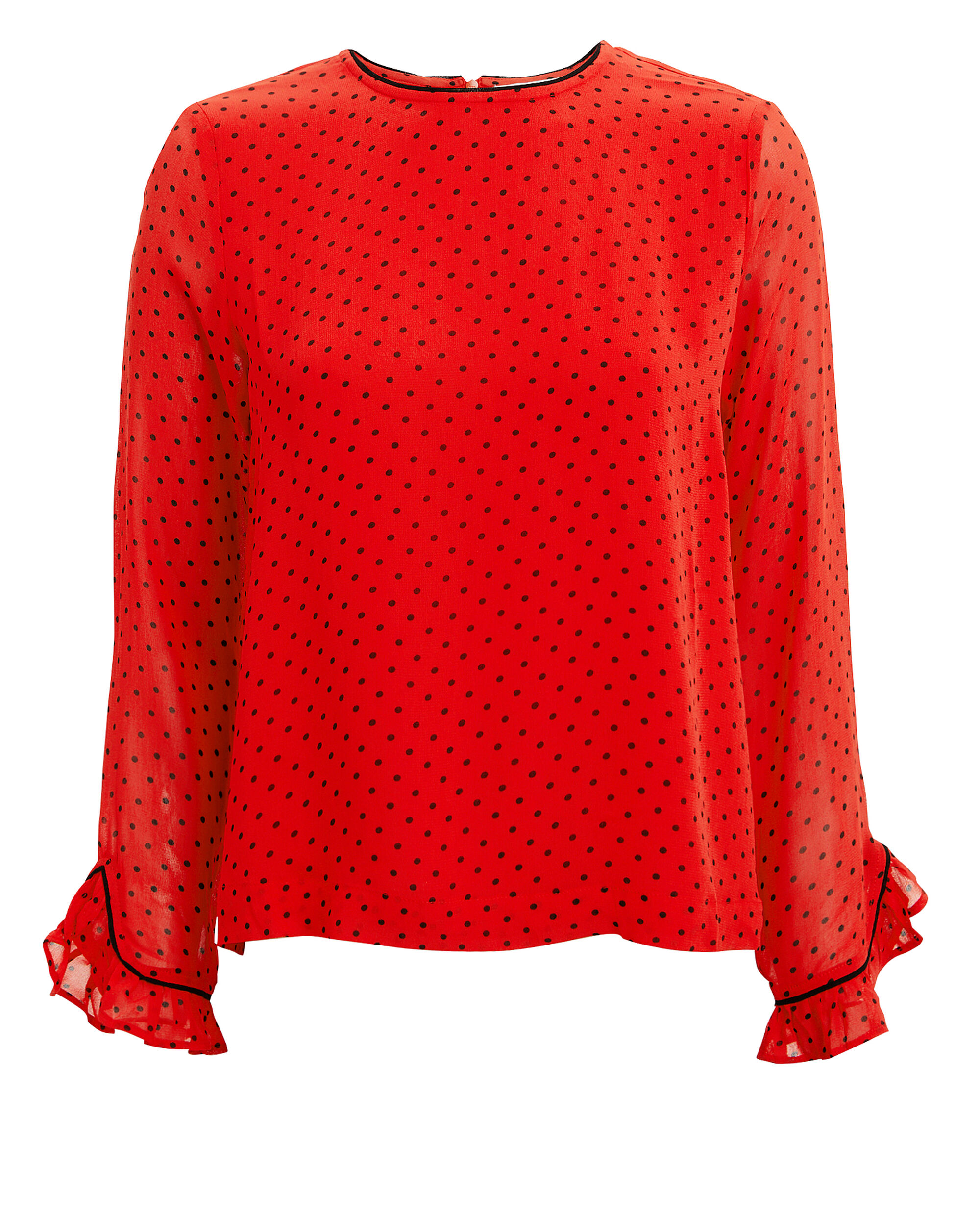 Fiery Red Blouse, RED, hi-res