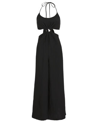 Britannie O-Ring Jumpsuit, BLACK, hi-res
