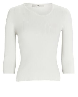 Giselle Rib Knit Top, IVORY, hi-res