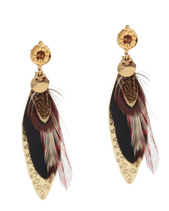 Sao Feather Earrings, MULTI, hi-res