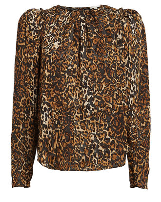 Chiara Leopard Burnout Top, BROWN/LEOPARD, hi-res