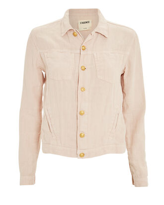 Celine Denim Jacket, BLUSH, hi-res