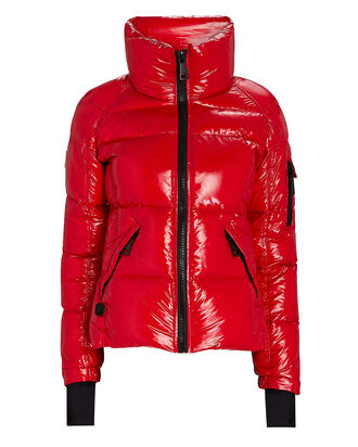 Freestyle Down Puffer Jacket, RED-DRK, hi-res