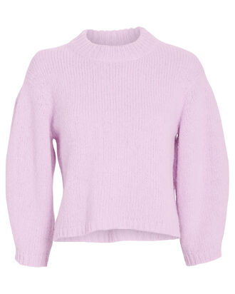 Airy Alpaca Cropped Sweater, LILAC, hi-res