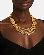 Multi Layer Chain Necklace, GOLD, hi-res