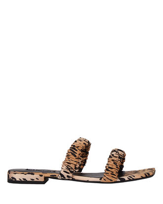 Harley II Leopard Satin Sandals, BEIGE/BLACK, hi-res