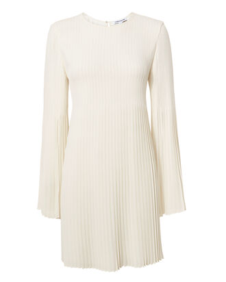 Violetta Pleated Cape Mini Dress, IVORY, hi-res