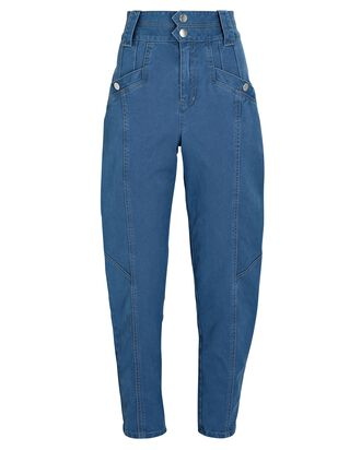 Alexa Tapered High-Rise Jeans, MEDIUM DENIM WASH, hi-res
