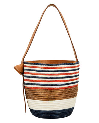 Super Stripe Lunchpail, ORANGE/BROWN/NAVY, hi-res