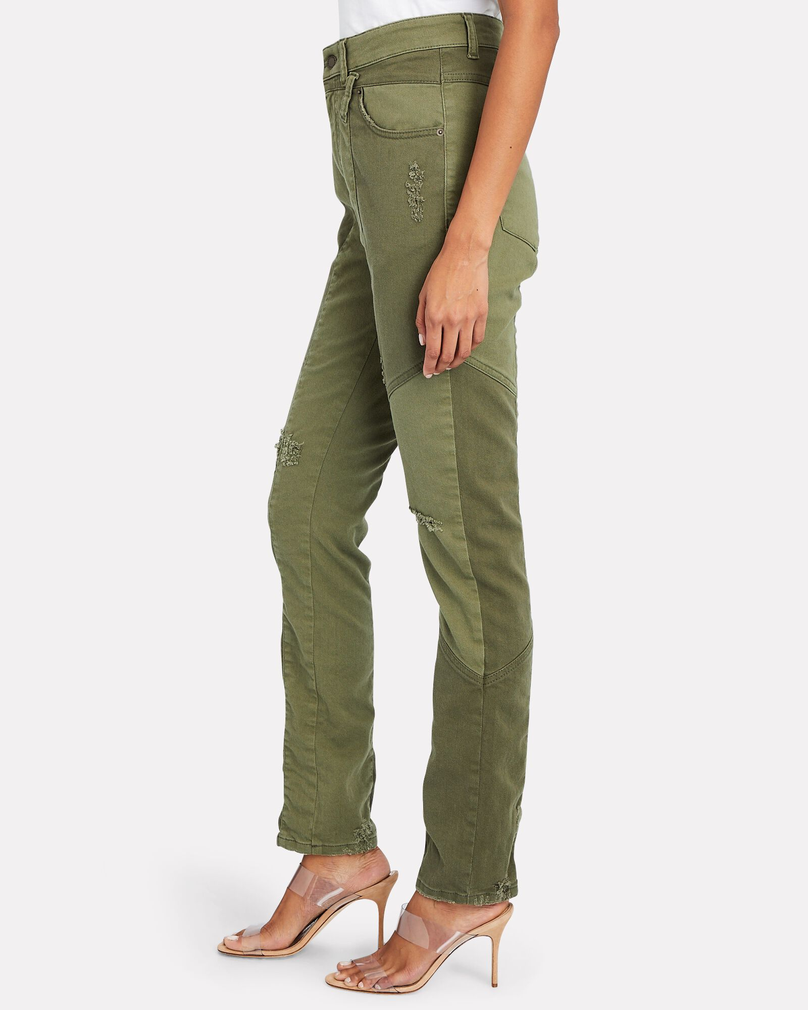 Taryn High-Rise Skinny Jeans, OLIVE/ARMY, hi-res