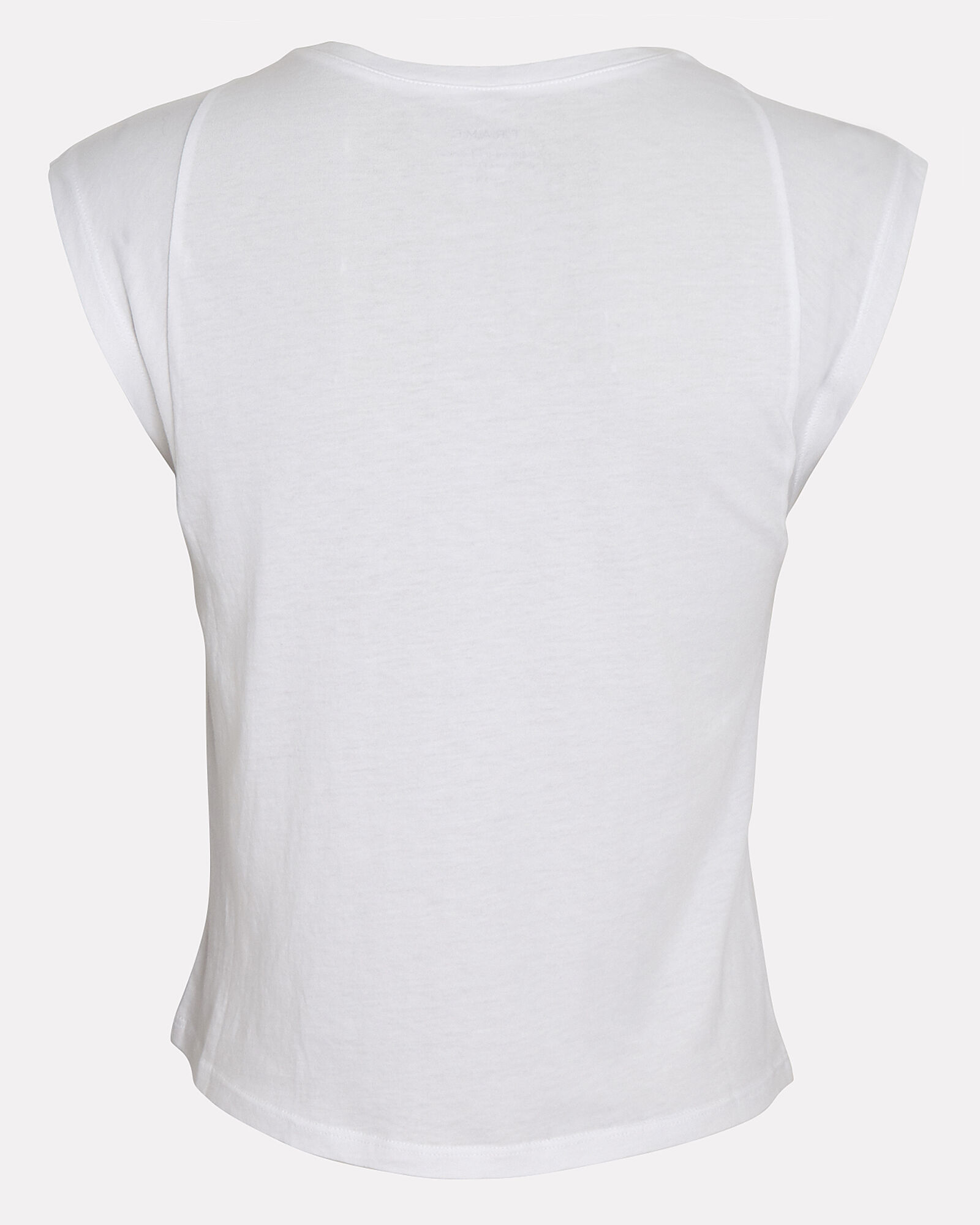 Le High Rise Muscle Sleeveless T-Shirt, WHITE, hi-res