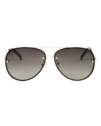 Hyperspace Aviator Sunglasses, BLACK/GOLD, hi-res