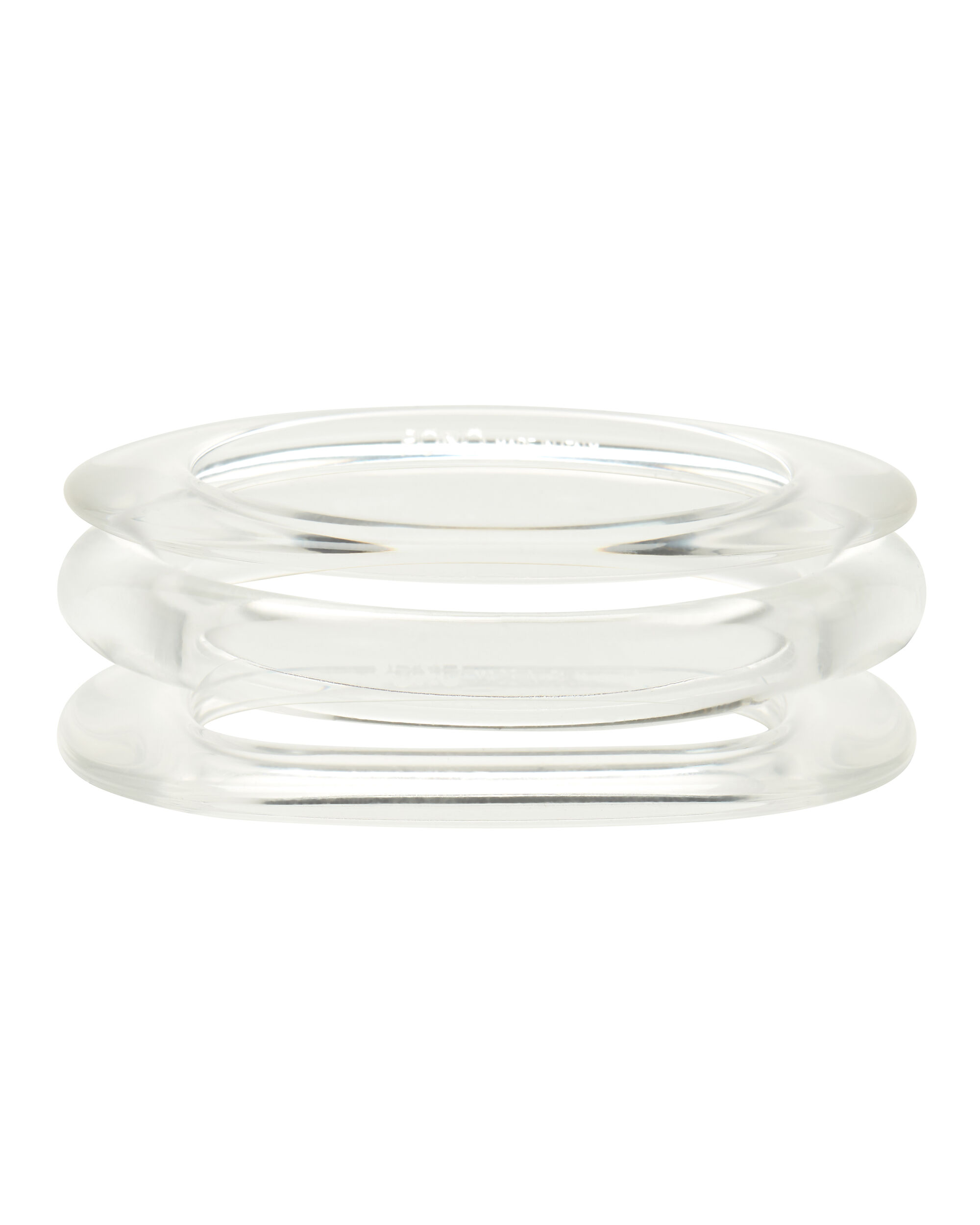 Lucite Bangle Set, CLEAR, hi-res