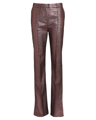 Emma Pintuck Glitter Trousers, ROSE, hi-res