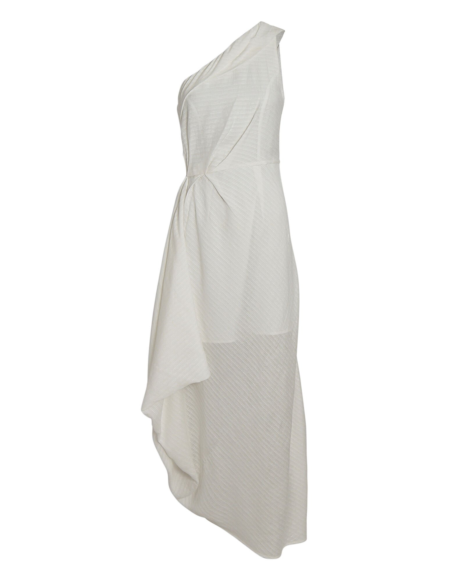 Go On One-Shoulder Midi Dress, IVORY, hi-res