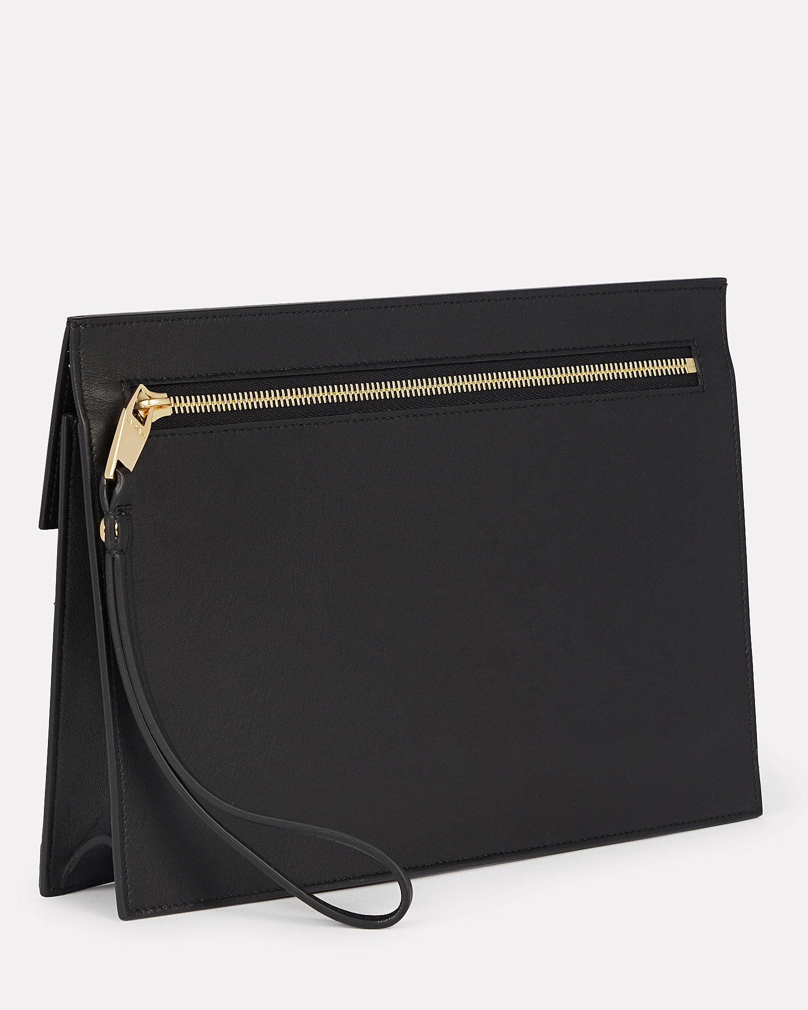B-Pouch Quilted Envelope Clutch, BLACK, hi-res