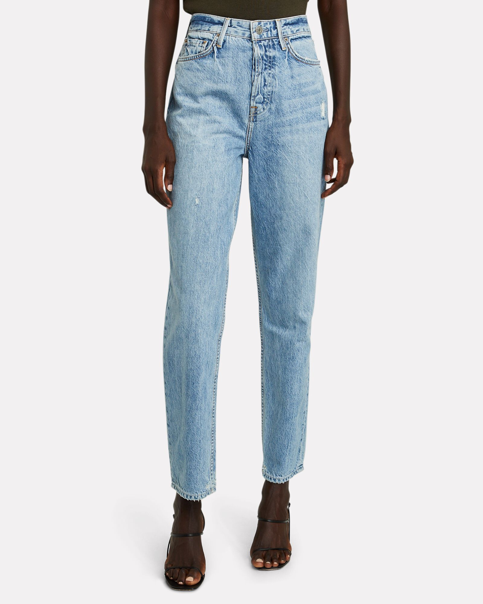 Devon High-Rise Straight-Leg Jeans, LEG ALL THE WAY, hi-res