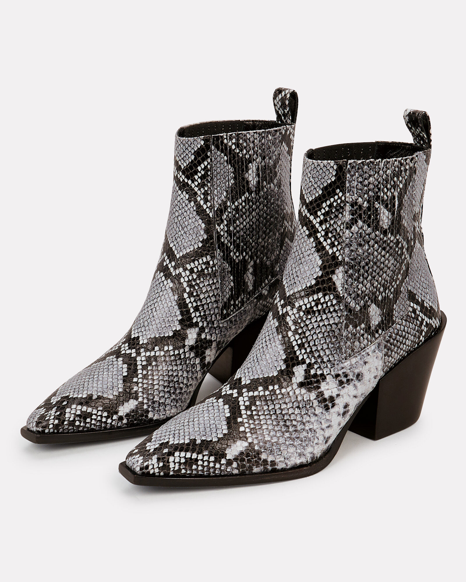 Kate Python-Embossed Booties, FRENCH GREY, hi-res