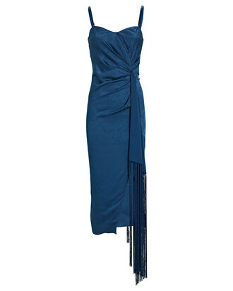 Frances Strapless Paisley Jacquard Dress, BLUE, hi-res