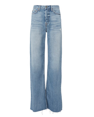 Carla Flare Jeans, BLUE DENIM, hi-res